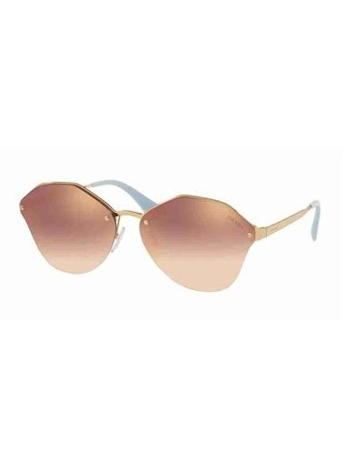 Prada Prada 64Ts 7Oead2 66 Ekartman Kadın Güneş Gözlüğü Altın